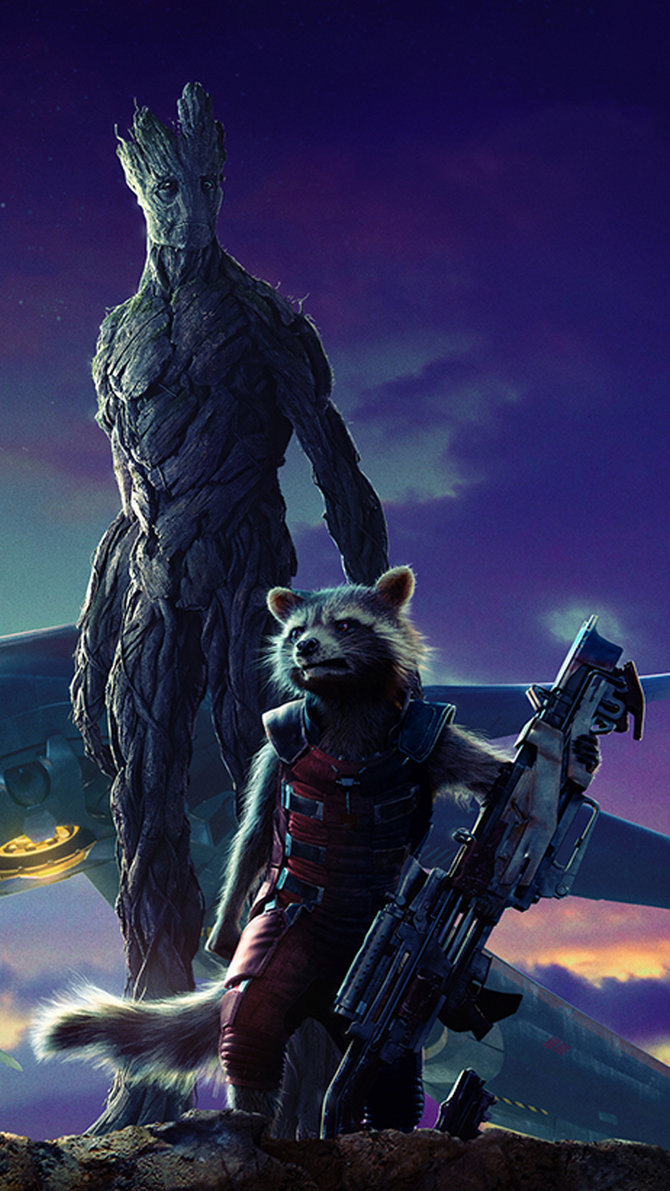 Marvels Guardians Of The GalaxyL to R Groot voiced by Vin 670x1191