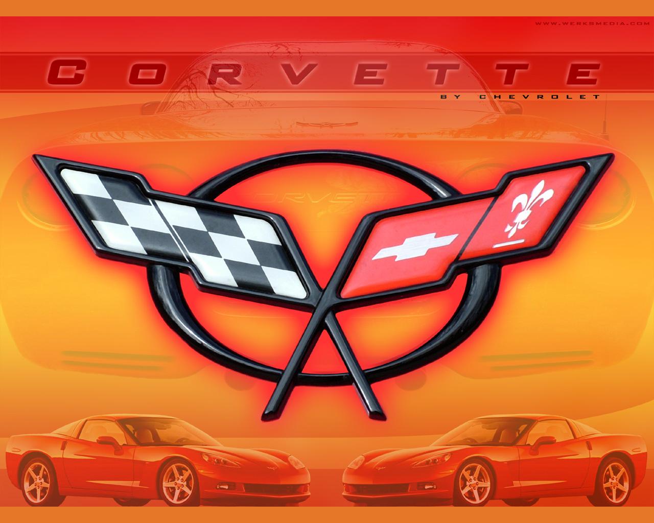 corvette logo wallpaper free desktop wallpaper - Corvette C5 Logo Wallpaper