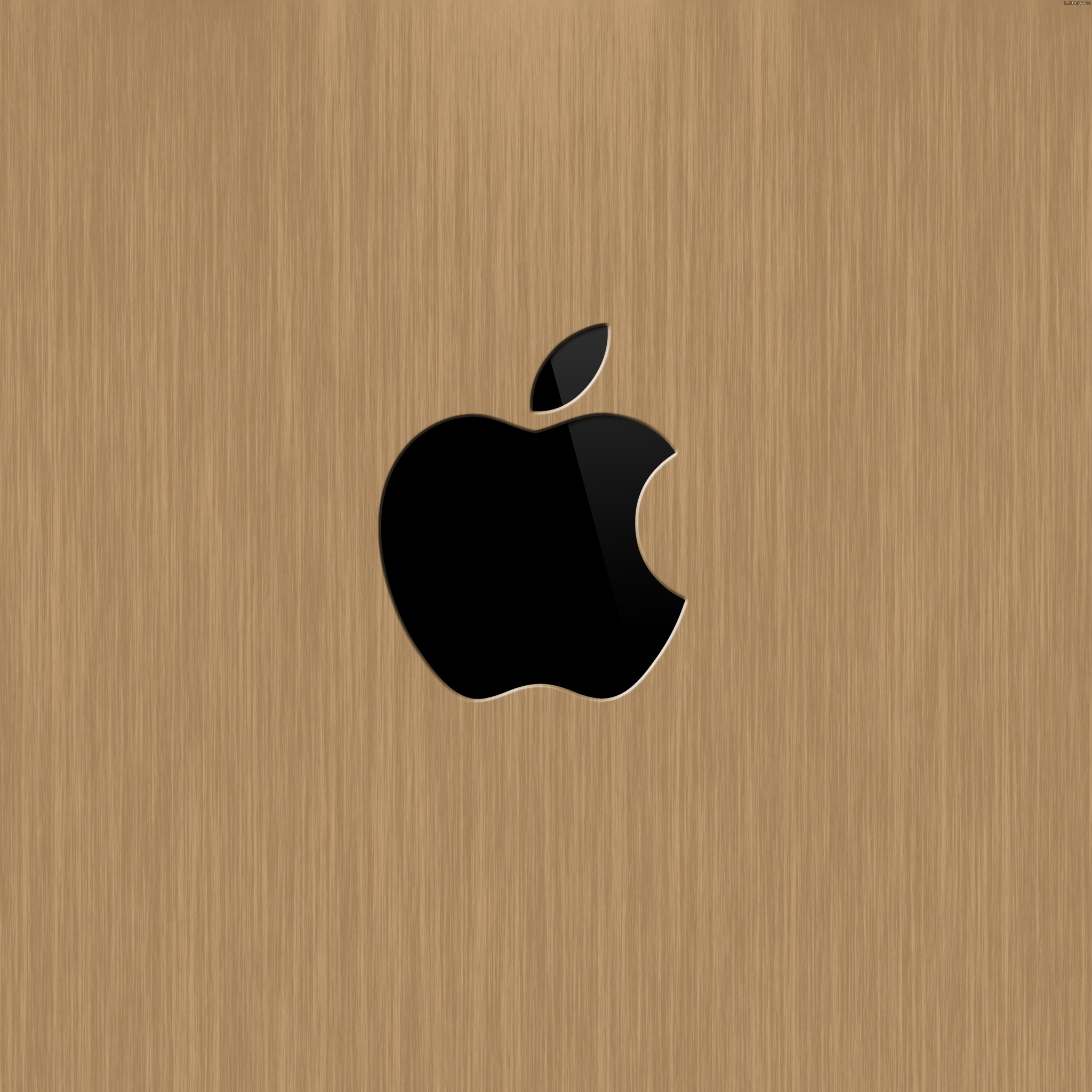 Newest iPad 3 wallpapers Apple Logo Wallpapers Wood Apple Logo 2048x2048