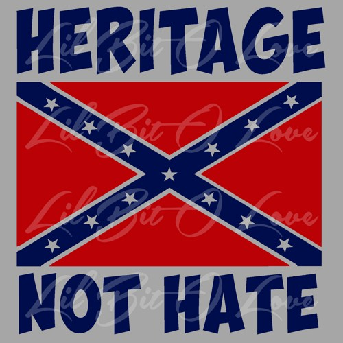 red heritage not hate confederate rebel flag vinyl decal d3c6cc83jpg 500x500