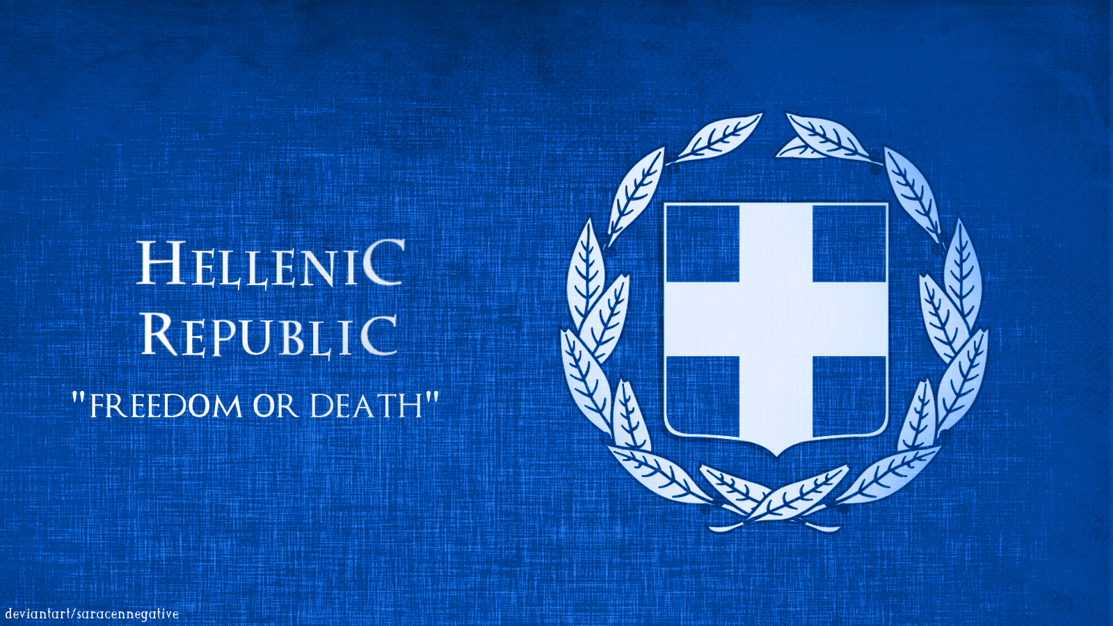Greek Flag Wallpaper Greece flag by saracennegative 1600x900