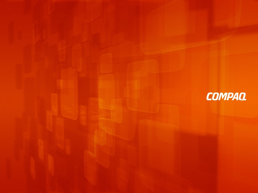 1024x768 COMPAQ orange desktop PC and Mac wallpaper 1024x768