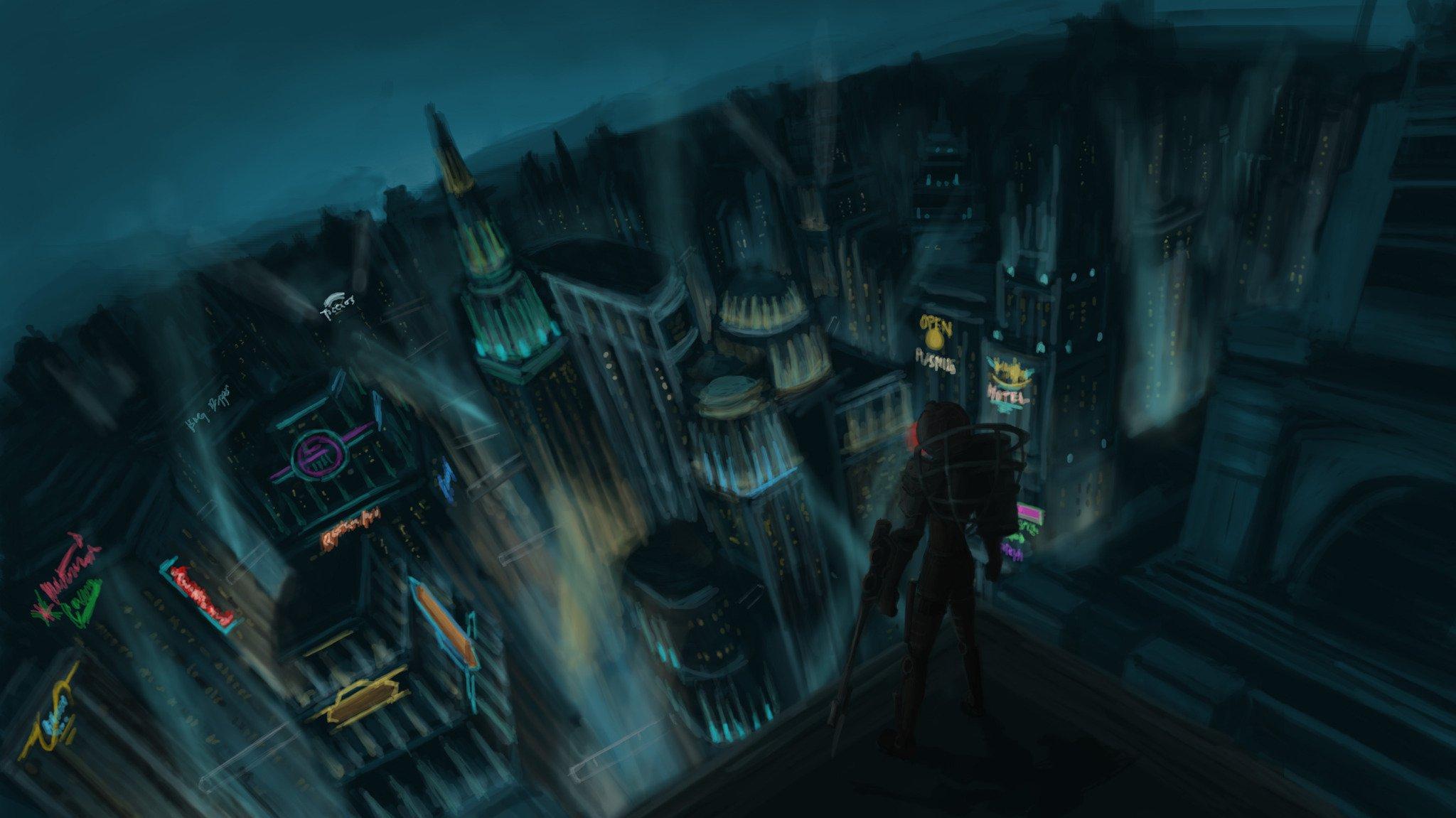 Bioshock 2 Gameplay On Rapture Wallpaper Car Pictures 2048x1151