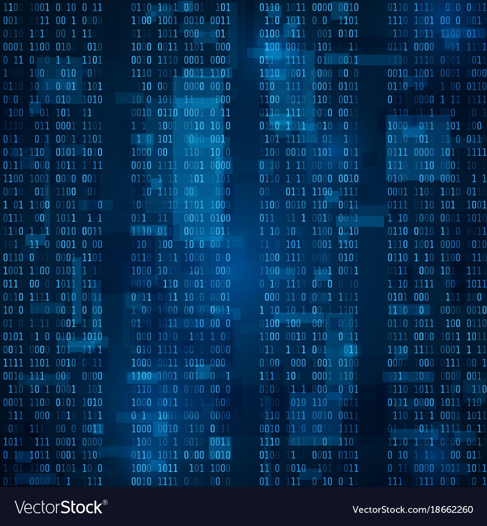 Blue binary computer code background Royalty Vector 1000x1080
