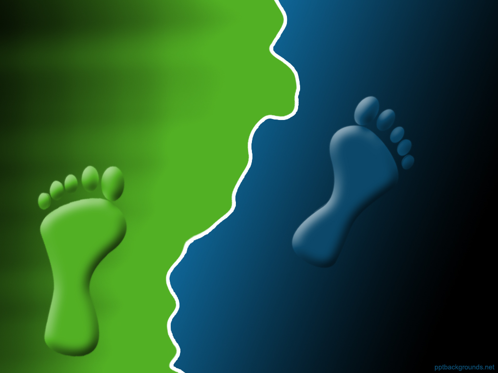 Footprints Backgrounds for PowerPoint Template 1024x768