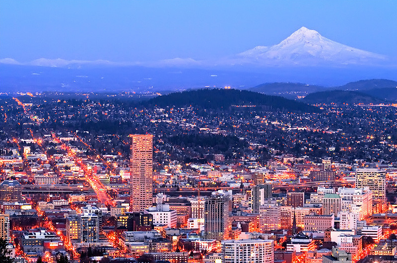 Portland Skyline Wallpaper 797x529