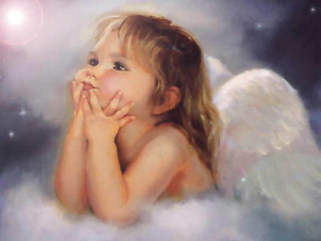 Cute Little Angel   Angels Wallpaper 13179292 1024x768