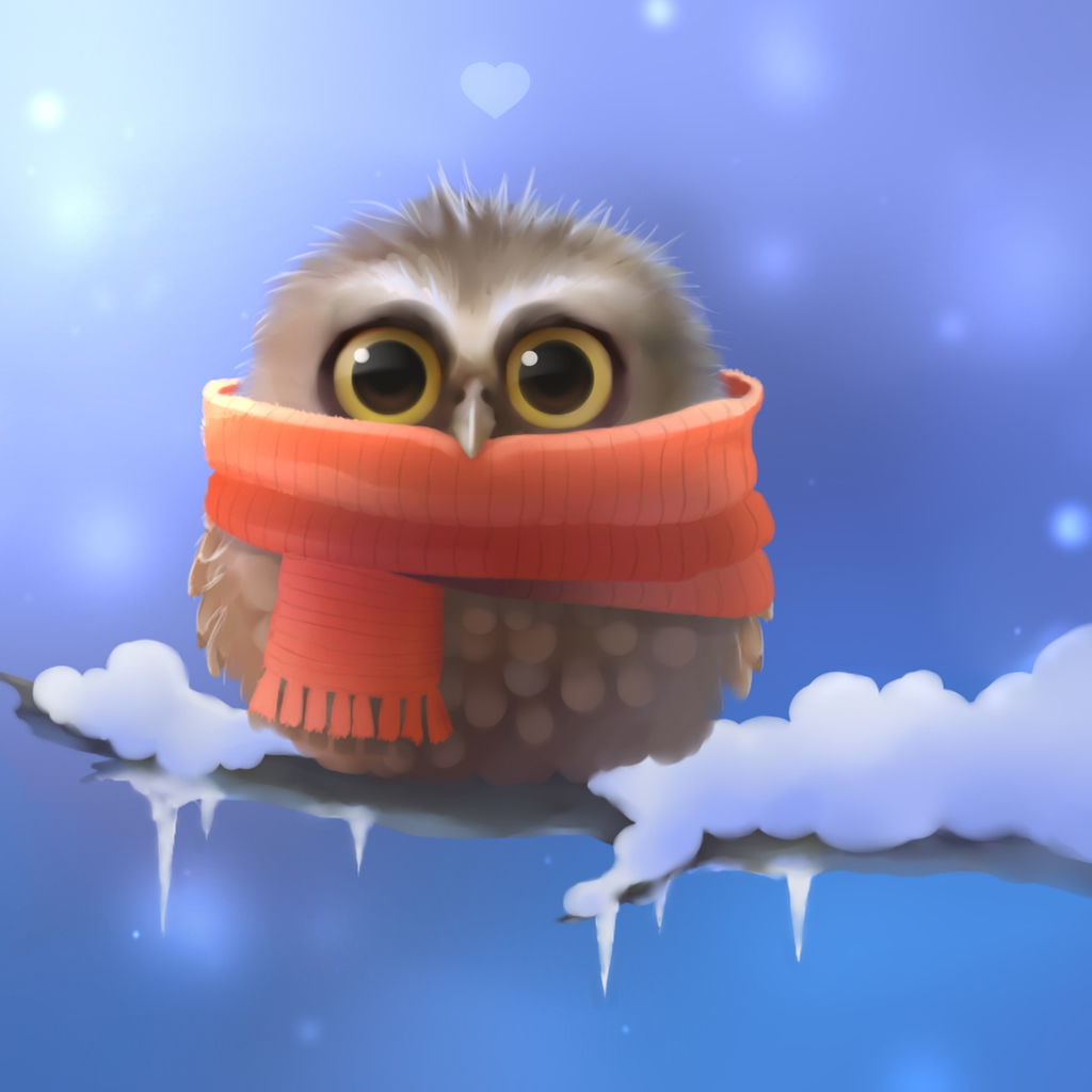 Cute Owl Graphic iPad Wallpaper Download iPhone Wallpapers iPad 1024x1024