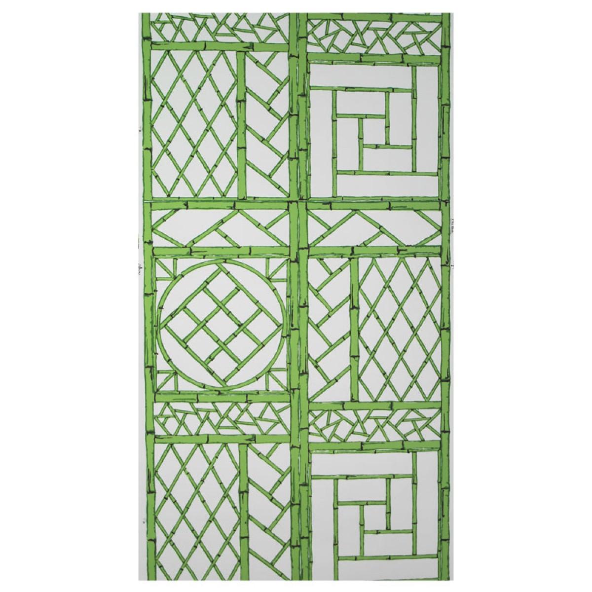 Green Chinese Lattice Wallpaper Set of 2 Rolls 1200x1200
