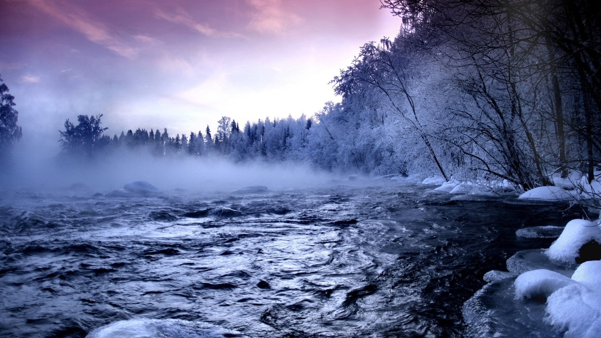 Beautiful Winter landscape 1920 x 1080 HDTV 1080p Wallpaper 1920x1080