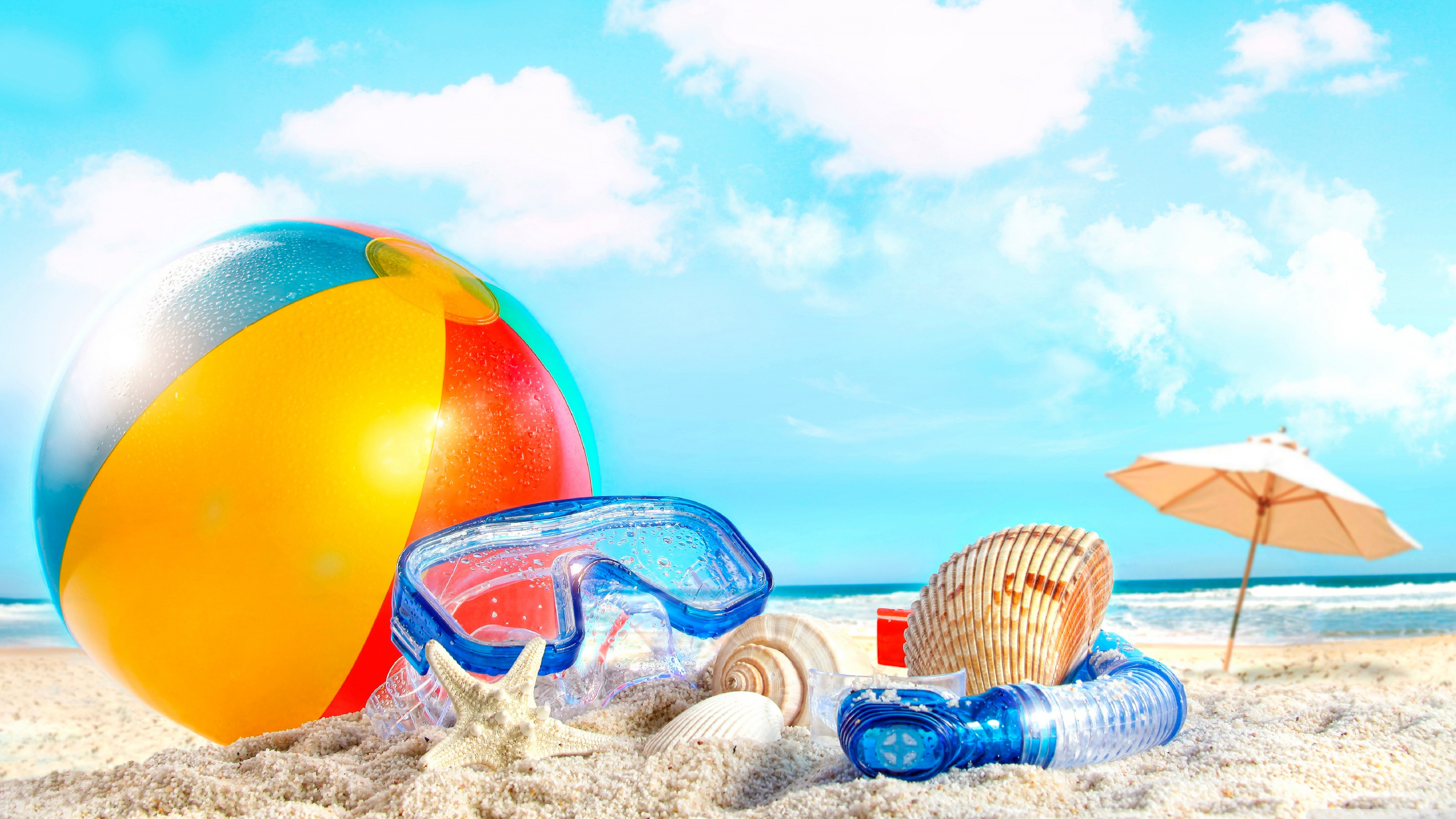 Summer vacation at sea wallpapers and images   wallpapers pictures 3840x2160