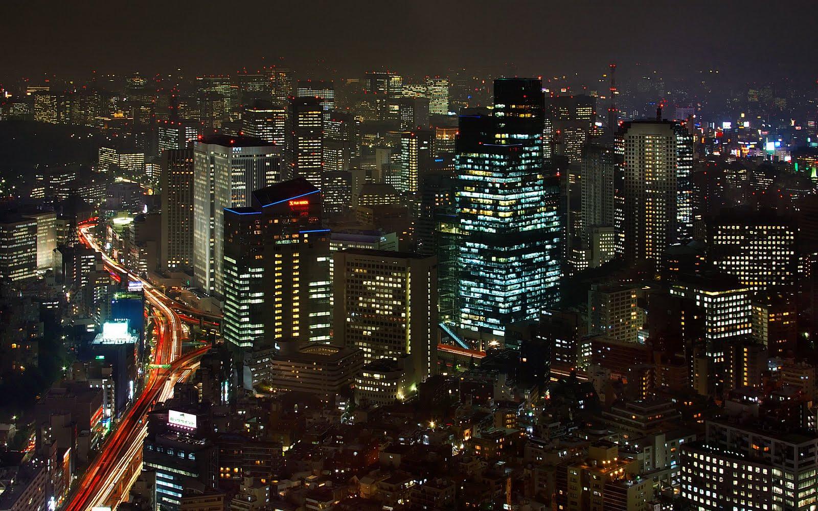 Tokyo at Night Wallpaper 1600x1000