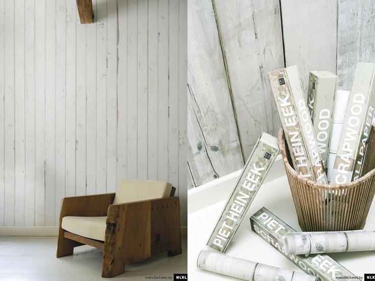 NLXL wallpaper wood create a reclaimed wood look with wall paper 736x552