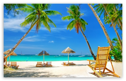 Tropical Paradise Beach HD wallpaper for Standard 43 54 Fullscreen 510x330