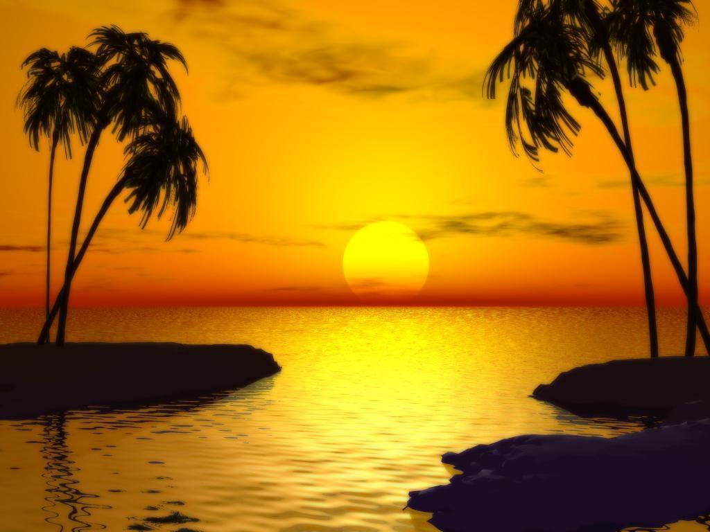Beautiful Beach Sunset Wallpaper 8847 Hd Wallpapers in Beach 1024x768
