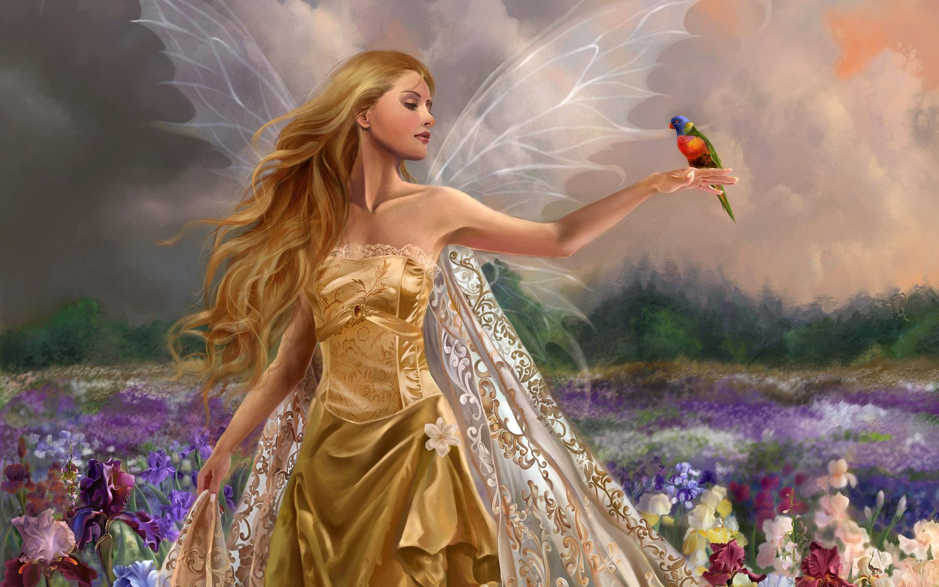Fairy in Garden   Fairy in Garden Wallpaper 1920x1200