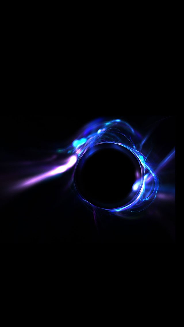 Free Download Blue Light Design And Black Background Iphone