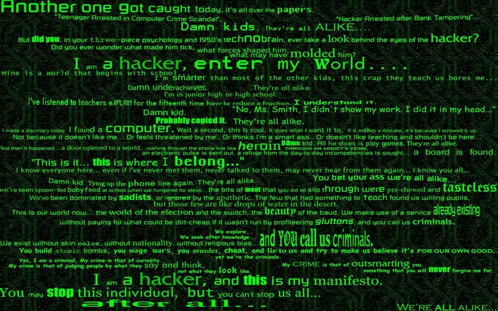 Matrix Code Wallpaper 1680x1050 Matrix Code Hackers 1680x1050