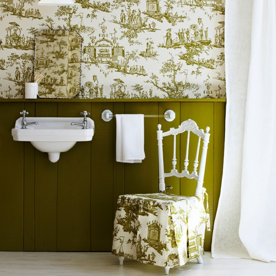 Bathroom wallpaper ideas 550x550