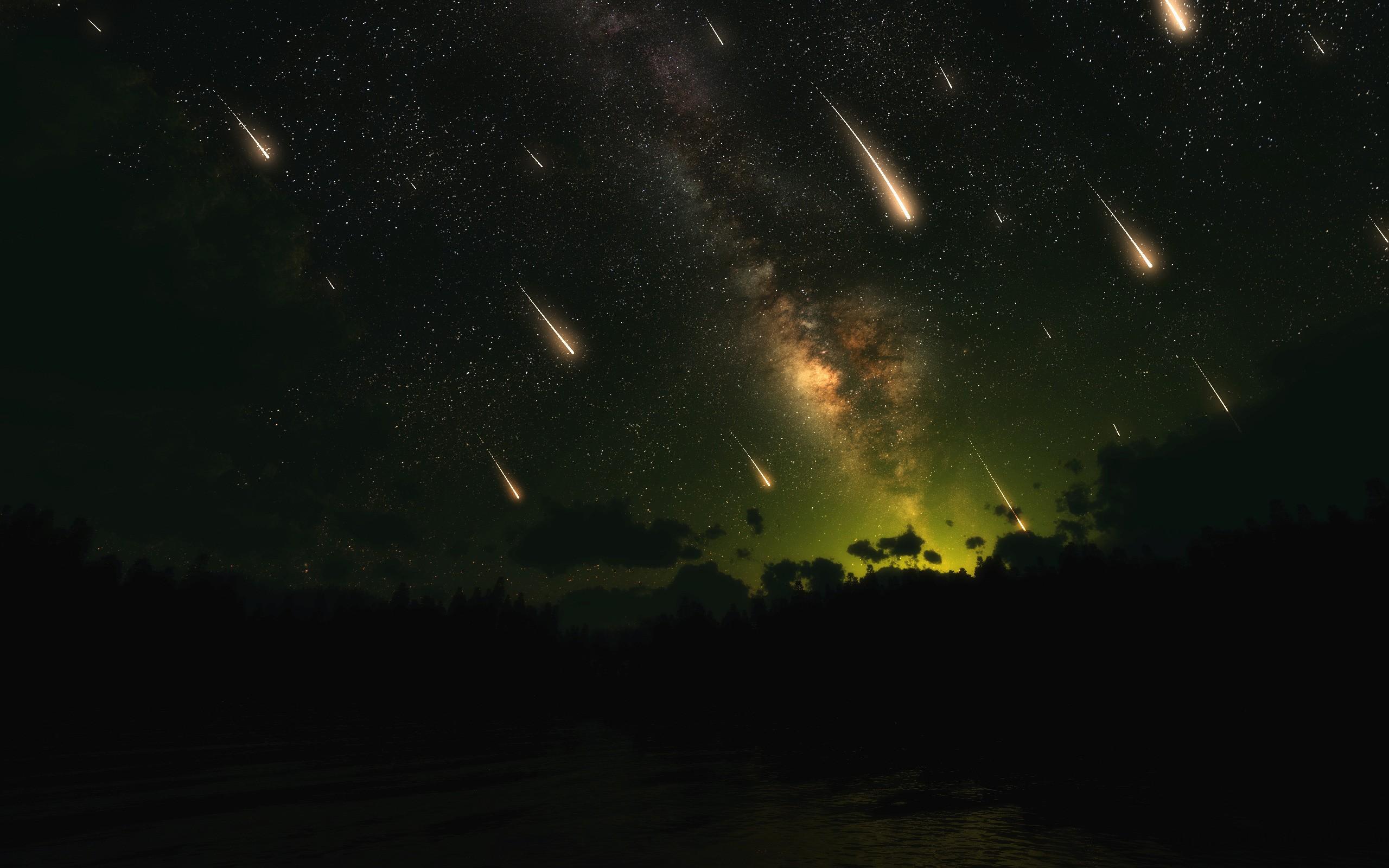Falling Stars Meteors Wallpapers [Wallpaper Wednesday]   Hongkiat 2560x1600