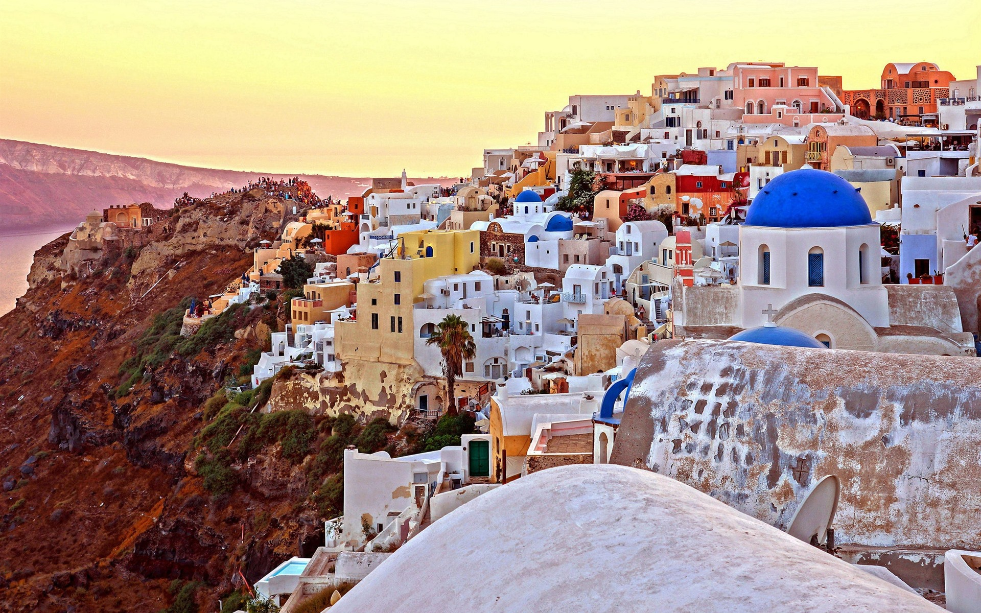 Wallpaper Santorini Greece city houses 1920x1200 HD Picture Image 1920x1200