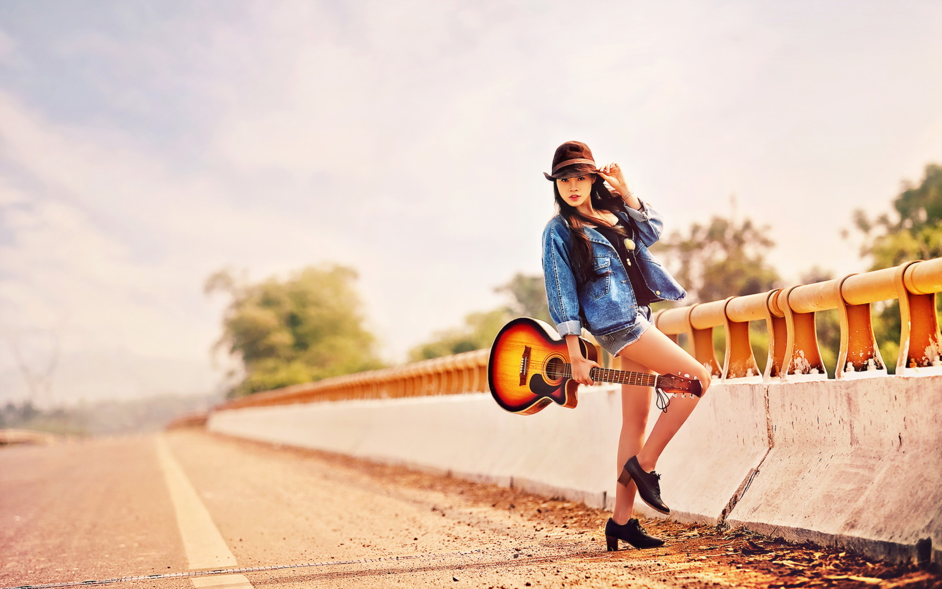 guitar girls wallpaper wallpapersafari. Black Bedroom Furniture Sets. Home Design Ideas