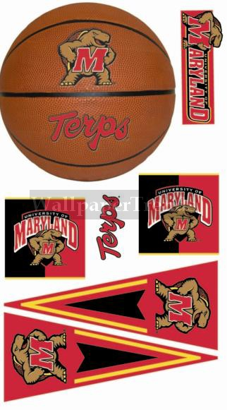UM University of Maryland Terapins Wall Decals Removable Wall Stickers 322x581