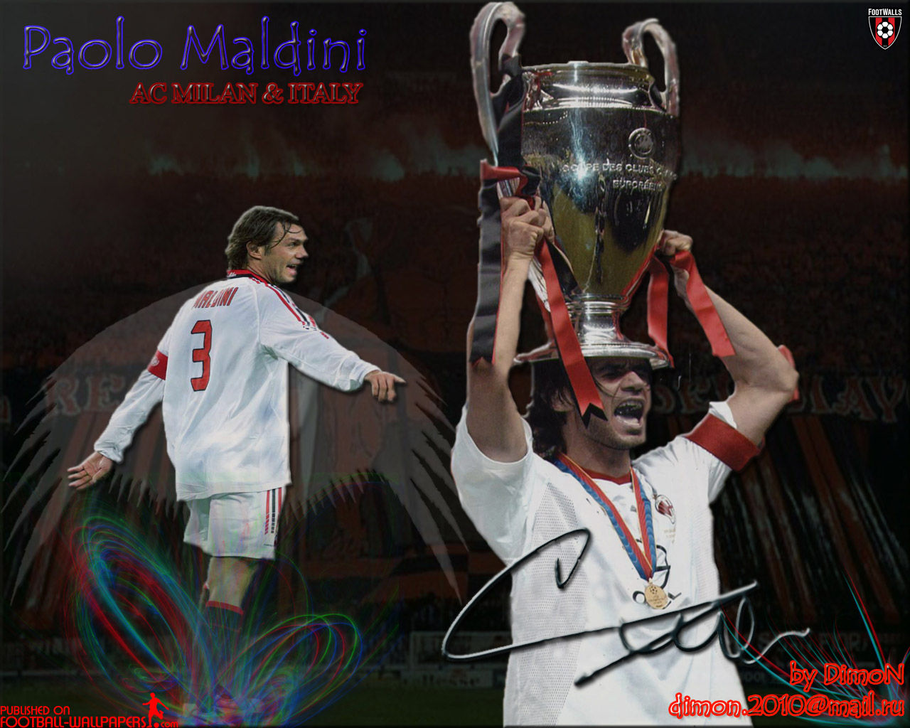 Paolo Maldini Wallpaper 2   Football Wallpapers 1280x1024