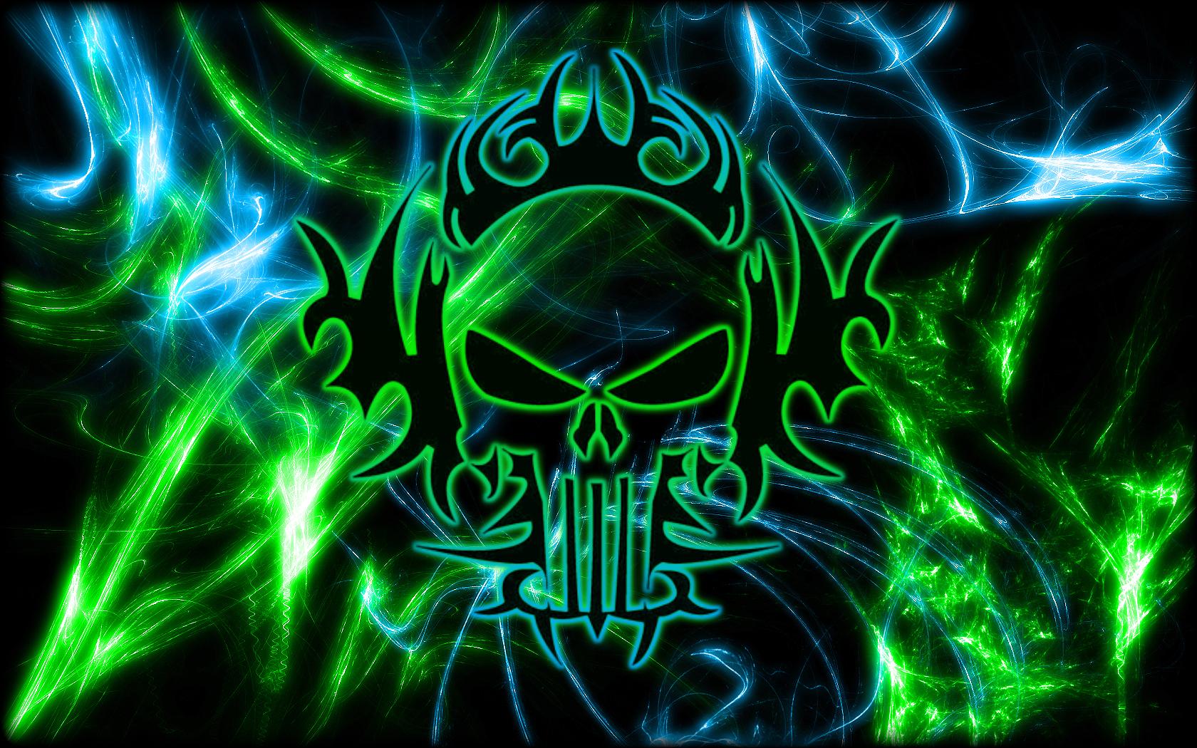 Green Skull Wallpaper 1680x1050