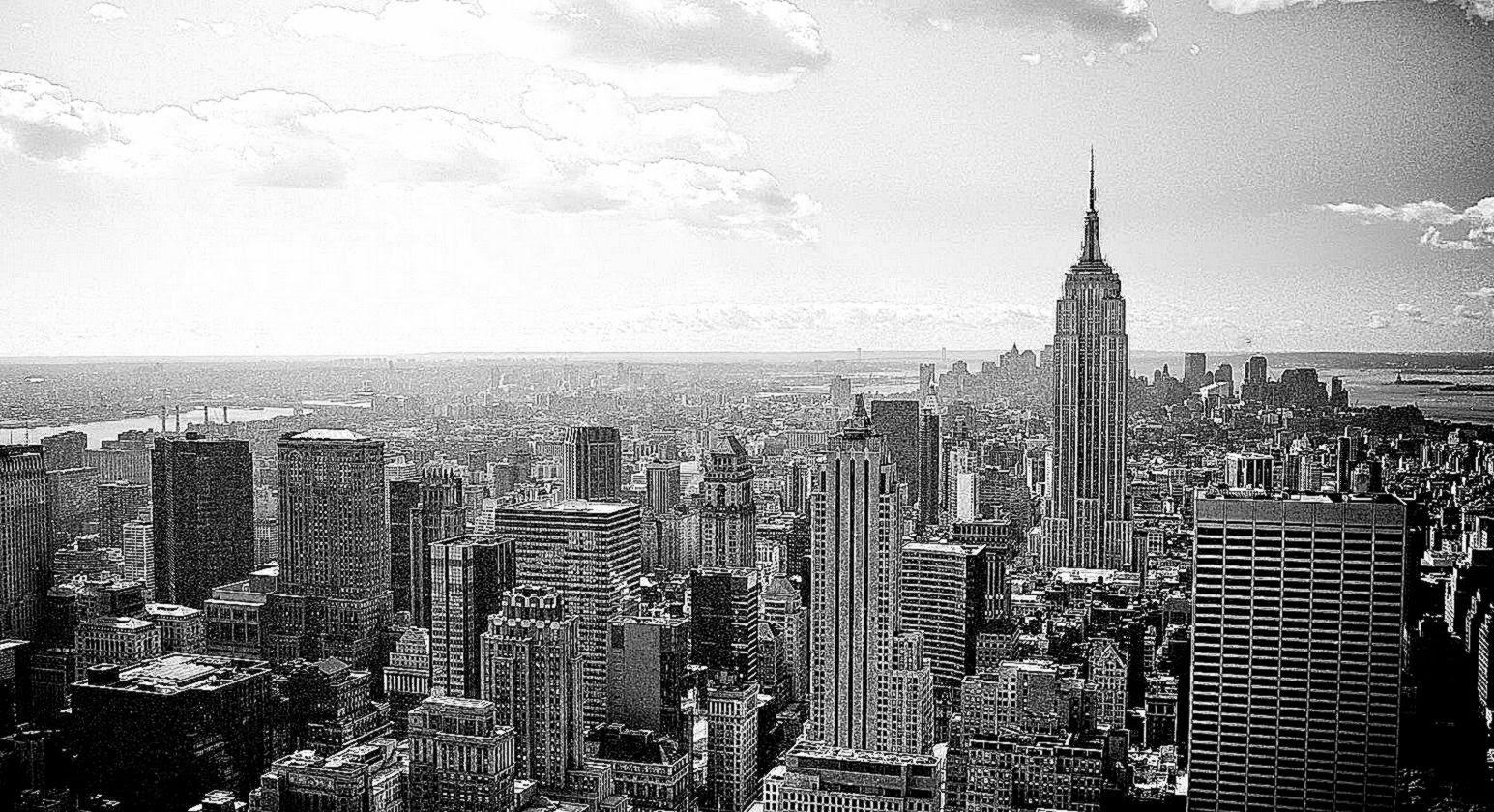 New York City Black And White Background Wallpaper Wallpaper 1545x840