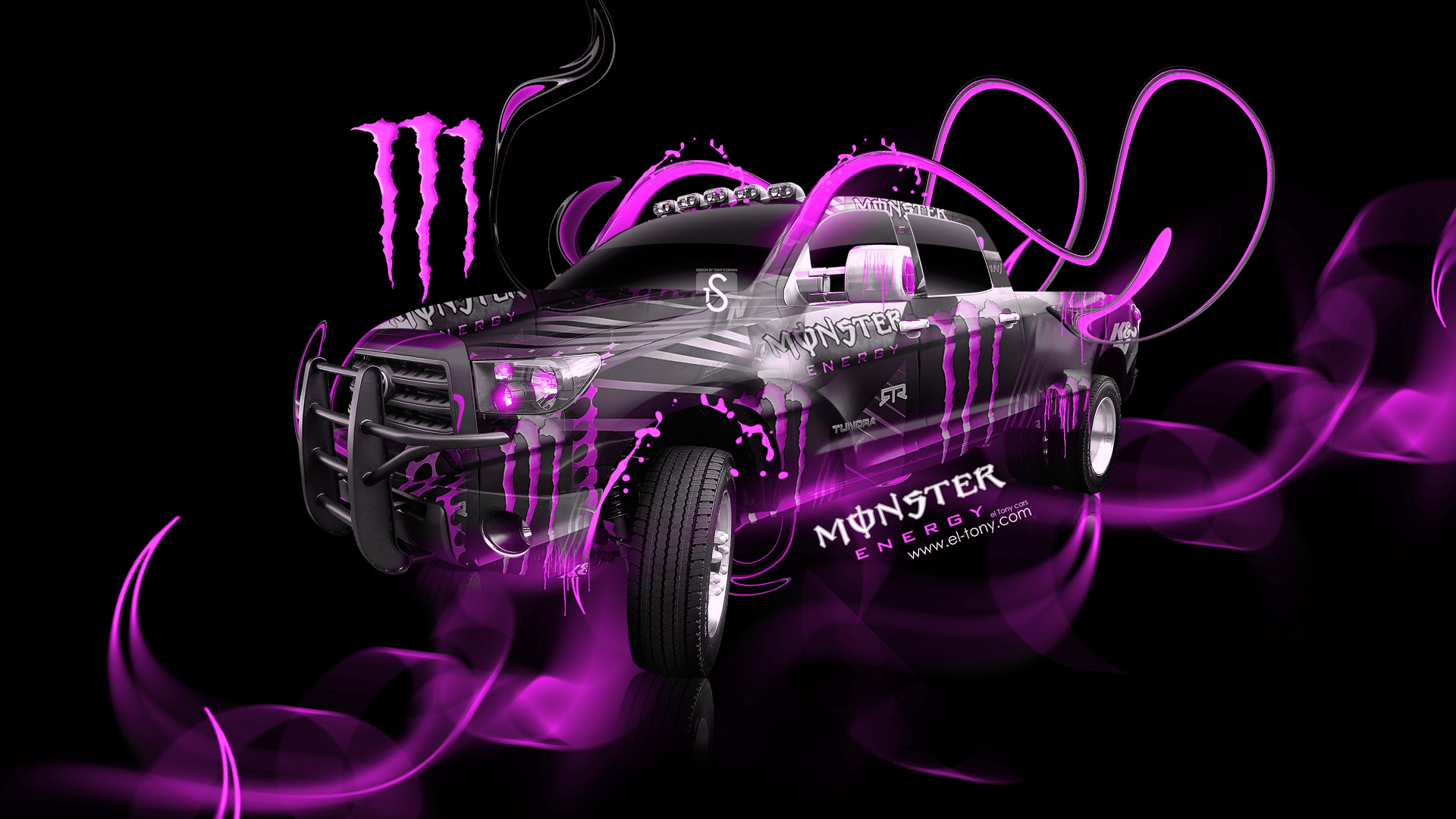 Monster Energy Toyota Tundra Fantasy Plastic Car 2014 el 1920x1080