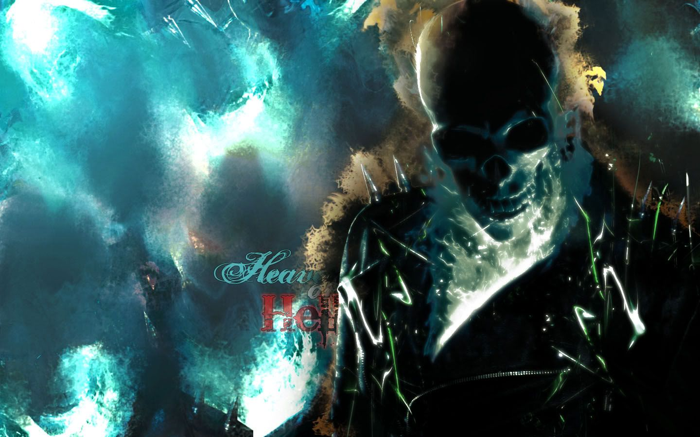 Blue Ghost Rider ghost rider backgrounds   wallpaper cave 1440x900