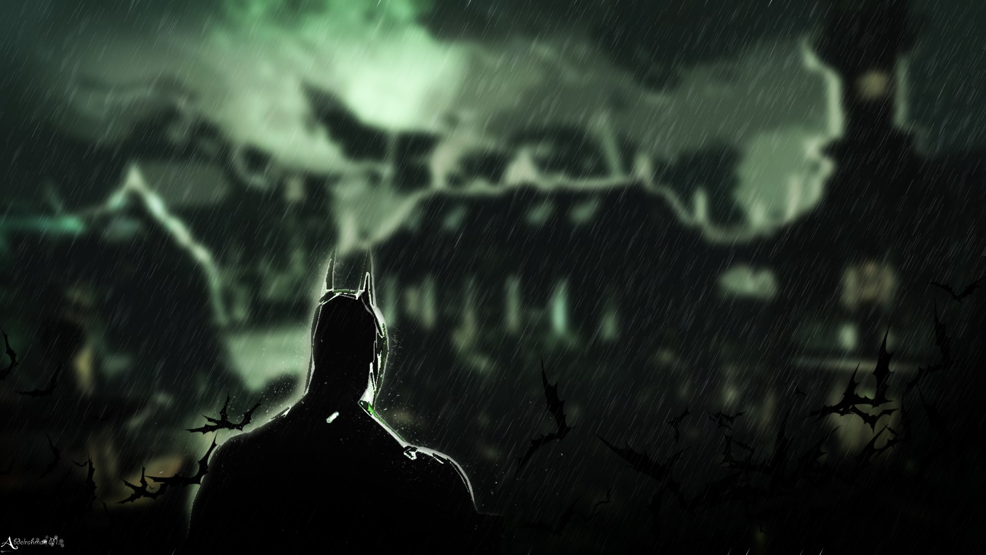 Batman Rain Wallpaper 1920x1080 Batman Rain Knight Batman Arkham 1920x1080
