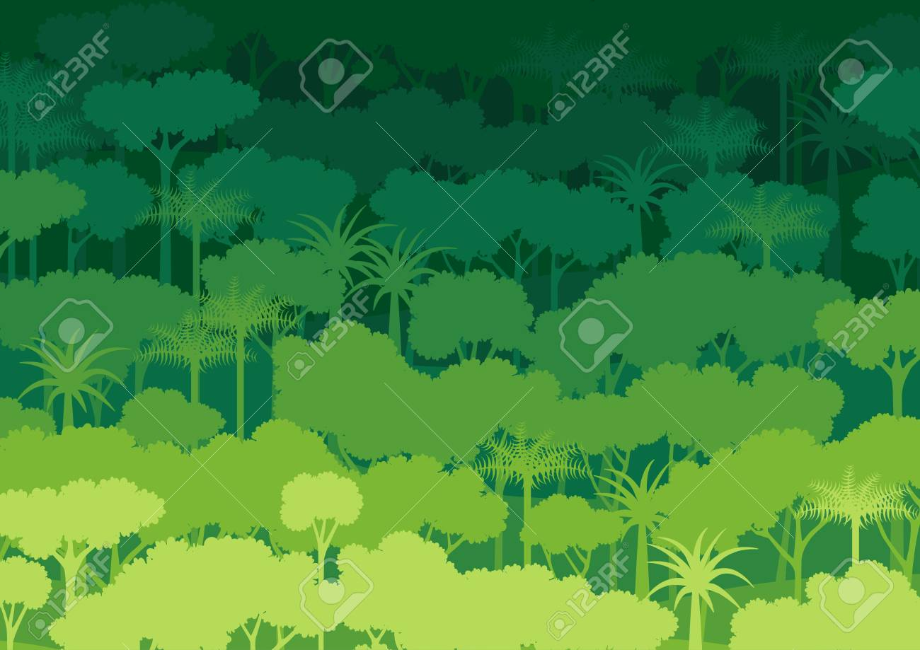 Green Silhouette Forest Abstract Background Nature And 1300x919
