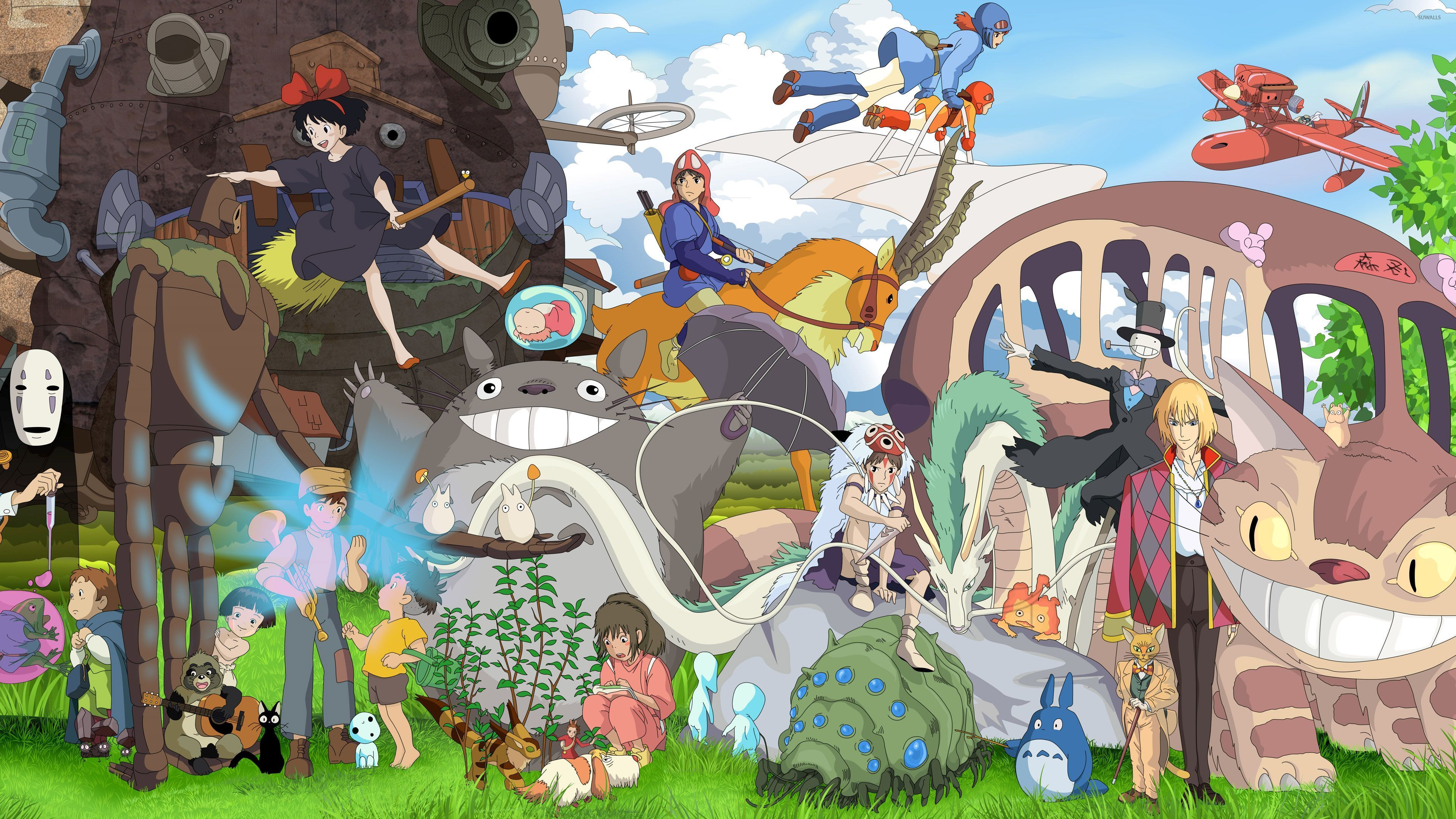 Studio Ghibli characters wallpaper   Anime wallpapers   36913 3840x2160