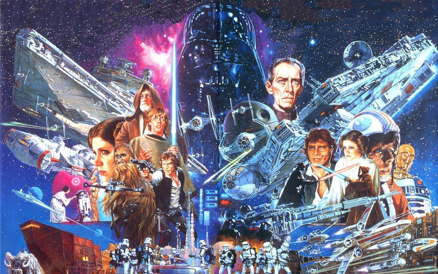 Star wars movie poster wallpaper wallpapersafari - Movie poster wallpaper ...