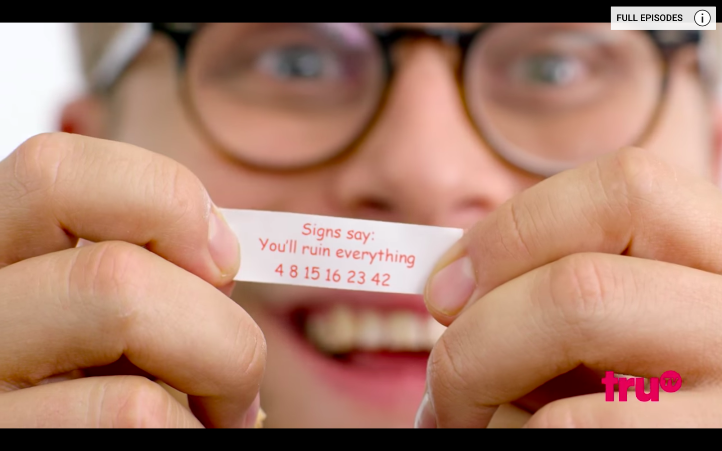 The numbers found on a fortune cookie in an Adam Ruins Everything 1440x900
