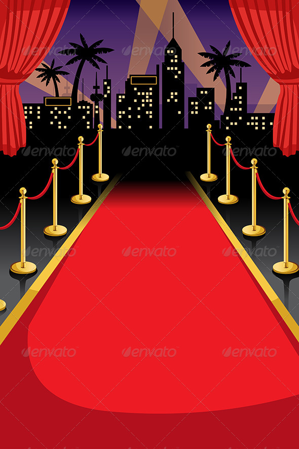 Red Carpet Event Flyer Backgrounds Dondrupcom 590x885