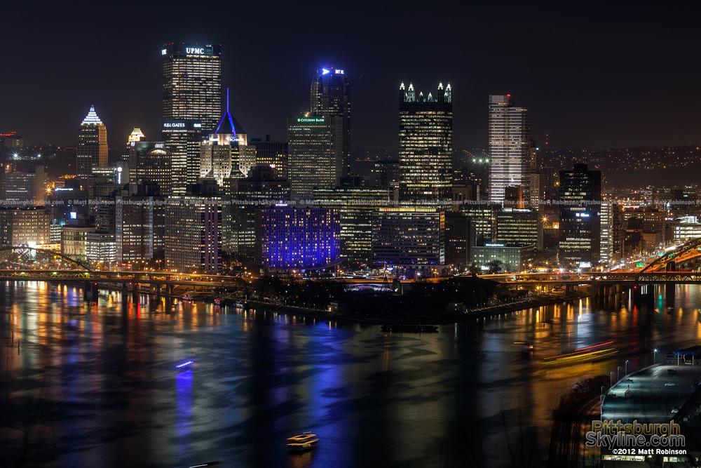 47 Pittsburgh At Night Wallpaper On Wallpapersafari
