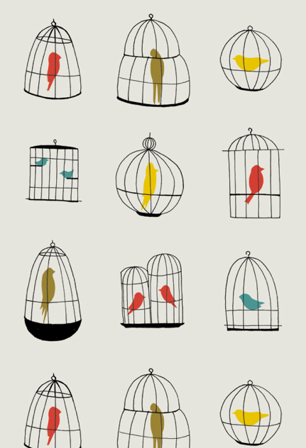 Bird Wallpaper Designs Bird cages wallpaper 431x632