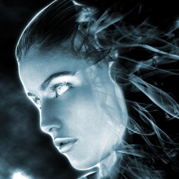 Holographic Woman - iPad Wallpaper