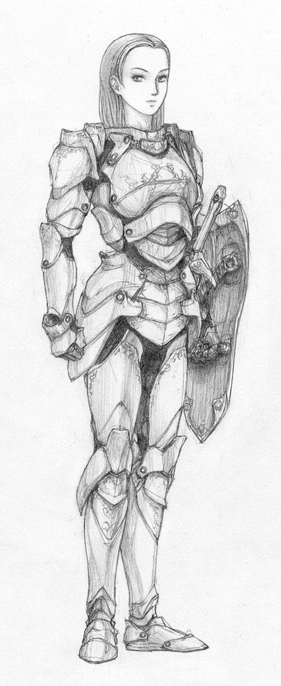 Female Knight Armor Drawing Ladies in Armor 5 images 3 410x1000