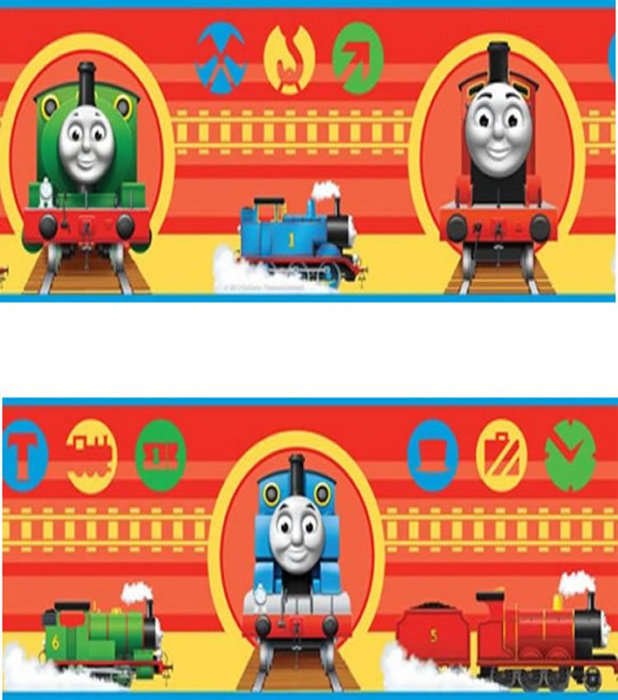 Childrens Rooms Thomas the Tank Engine Thomas Wallpaper Border 618x700