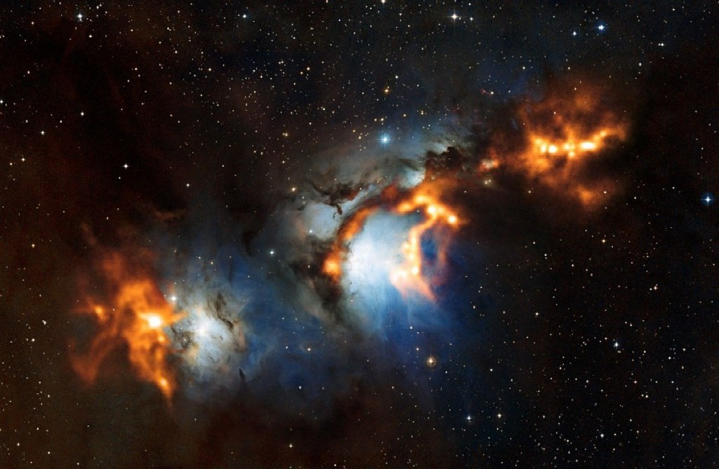 Messier 78 NGC 2068 a bright reflection nebula in Orion 1024x669