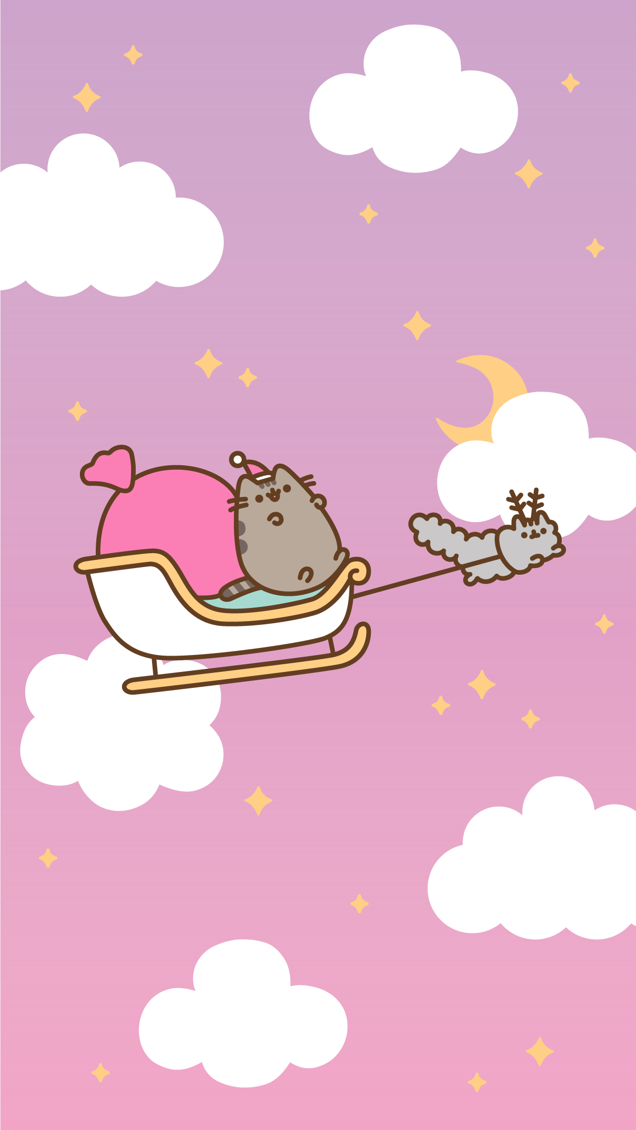 Christmas Pusheen Android and iPhone Wallpapers   ClairesBlog 1242x2208