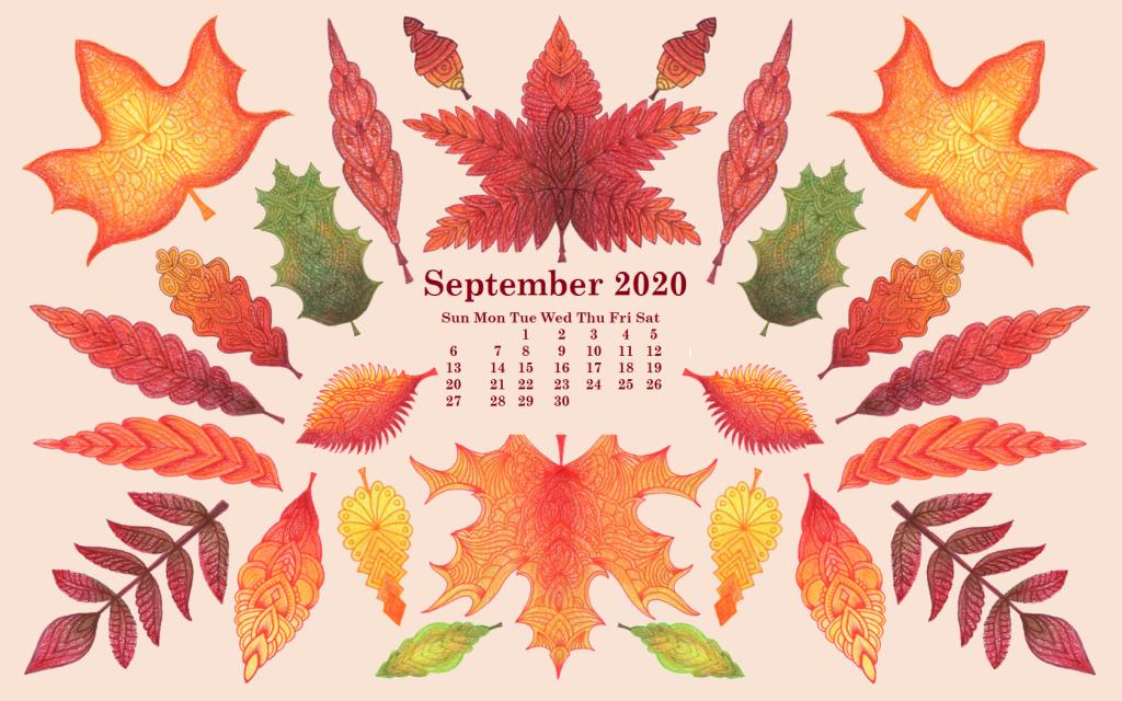 September 2020 Desktop Wallpaper Calendar in 2019 Calendar 1024x640