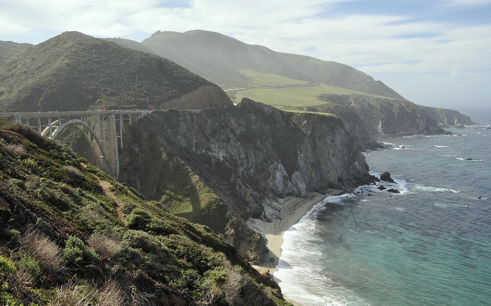 Pacific Ocean Big Sur California Beach 4k Hd Desktop: Big Sur HD Wallpaper