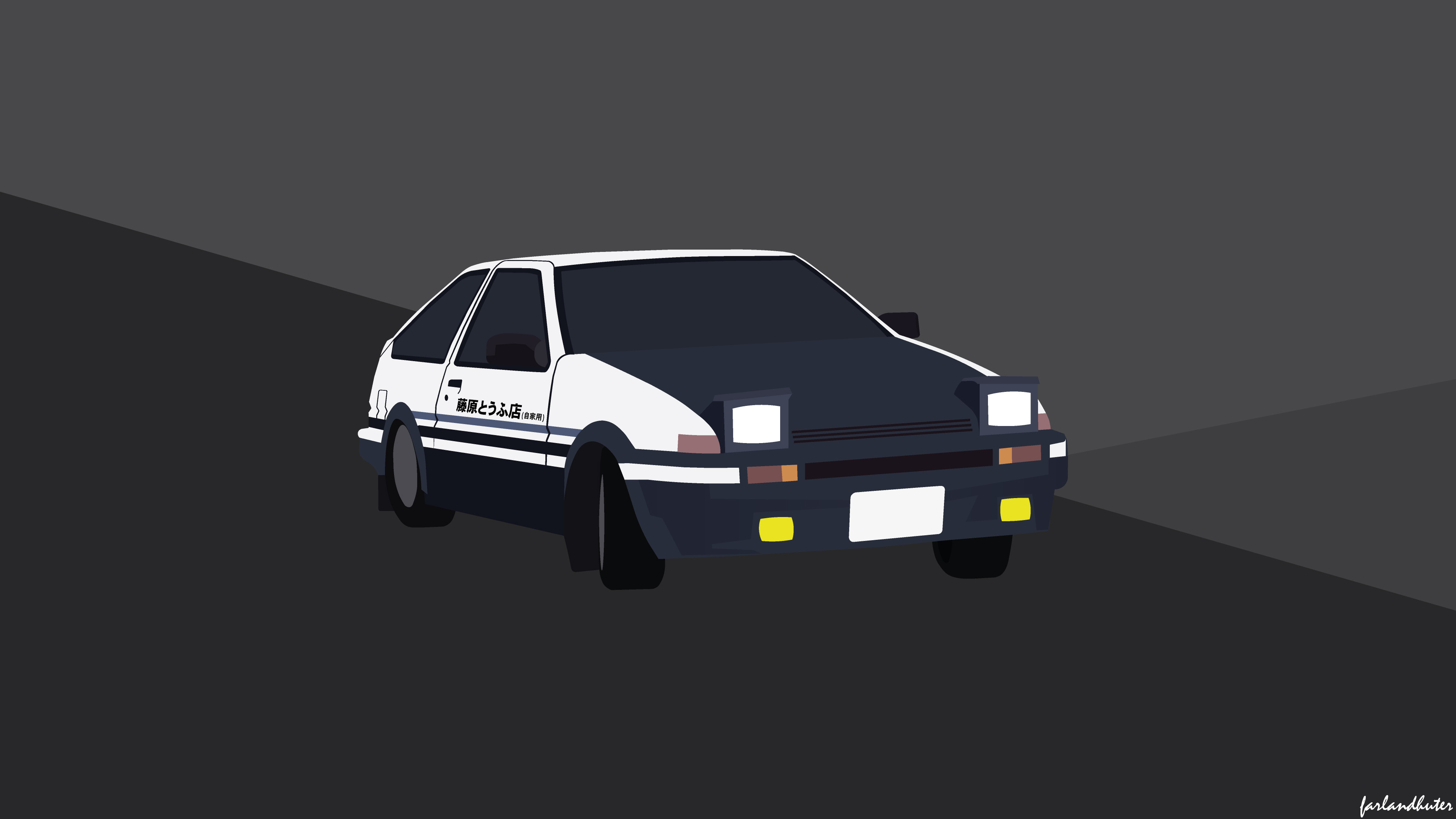 I Made a 4k Wallpaper of the AE86 From Scratch Hope You Guys Like 3839x2159