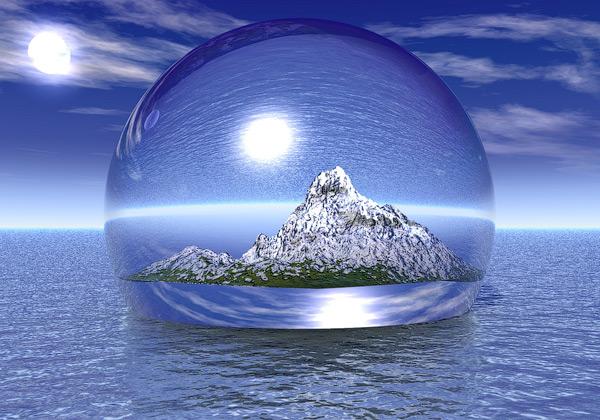 bubble wallpaper World in A Bubble 3D Wallpaper 600x420