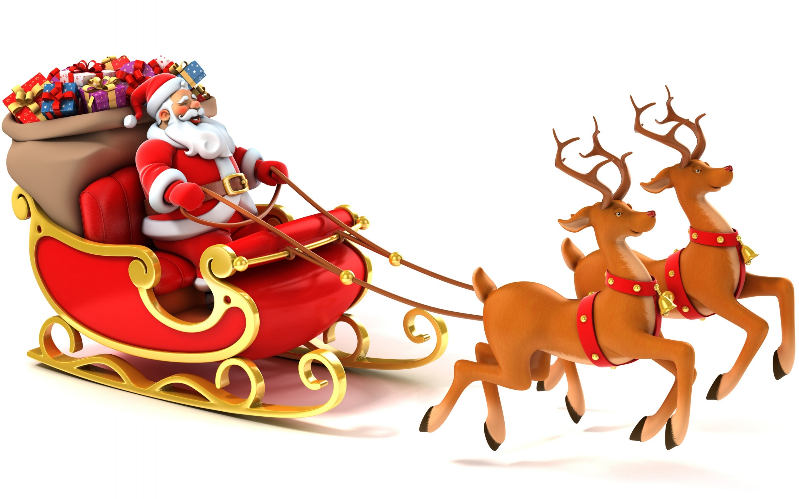 Cool Santa And Reindeer Pics imagebasketnet. ← Troll Doll Wallpaper Border